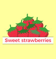 sweet strawberry flat style vector image vector image
