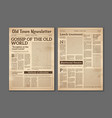 vintage newspaper news articles newsprint vector image
