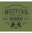 Western riders rodeo vector image vector image