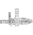 what is a cash structured settlement text word vector image vector image