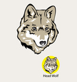 Wolf Head Logo and Emblem vector image vector image