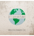 World Environment Day Eco Concept Template vector image vector image
