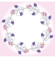 Wreath with blue and pink bindweed vector image vector image