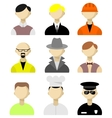 Flat icons men vector image