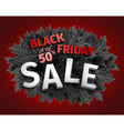 3d black friday sale tag design black realistic vector image vector image