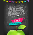 back to school apple sale concept design vector image vector image