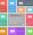 Battery fully charged icon sign Set of vector image vector image