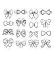 Beautiful Bows Elements Collection vector image vector image