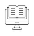 book or document on computer desktop screen vector image vector image