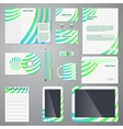 brand identity company style template vector image vector image