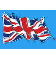 british artistic brush stroke waving flag vector image