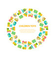 children toys banner template with place for text vector image vector image