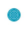 circuit design symbol logo technology vector image