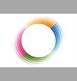 colorful smooth abstract circular logo technology vector image vector image