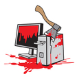 Dead computer vectorimage