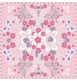 Decorative color floral background strawberry and vector image vector image