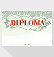 Diploma design template in baroque style