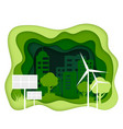 ecosystem concept eco city with clean energy vector image