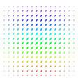 electric spark shape halftone spectral effect vector image vector image