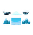 elements nature winter landscape user vector image