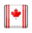 empty canada campaign button vector image