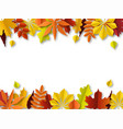 fall leaves concept autumn border paper cut vector image vector image
