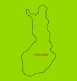 finland map with shadow effect vector image vector image