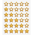 five stars rating system gold stars rating vector image