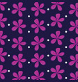 flowers natural icons pattern vector image vector image