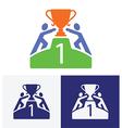 get winner cup vector image vector image