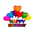 happy birthday balloon greeting card vector image