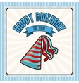 Happy Birthday design party hat icon Colorfull vector image vector image