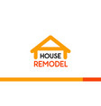 house remodel logo design template on white vector image vector image