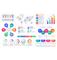 infographic chart timeline graph elements vector image