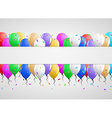 invitation card with many balloons vector image vector image