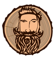 lumberjack sign vector image