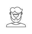 man icon gentleman vector image