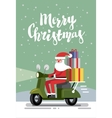 merry christmas and santa vector image vector image