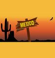 mexico border sign vector image vector image