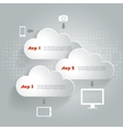 Network clouds with infographic elements and icons vector image vector image
