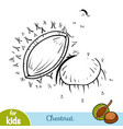 numbers game education game for children chestnut vector image vector image