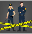 police officer image vector image
