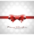 red bow Christmas background vector image vector image