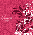 RED DAMASK FLORAL BACKGROUND vector image vector image