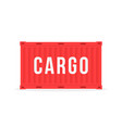 red sea container with cargo and shadow vector image vector image