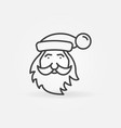 santa claus face linear merry christmas vector image