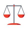 scales justice icon vector image vector image