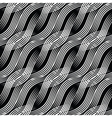 Seamless background with black and white curves vector image vector image