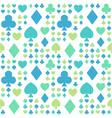 seamless pattern with card suits vector image vector image