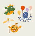 set fun characters vector image vector image
